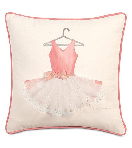 Image of Ballerina Attire Hand-Painted Pillow