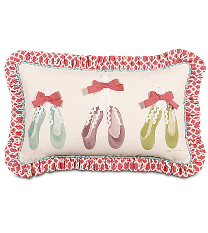 Image of Ballet Shoes Hand-Painted Pillow