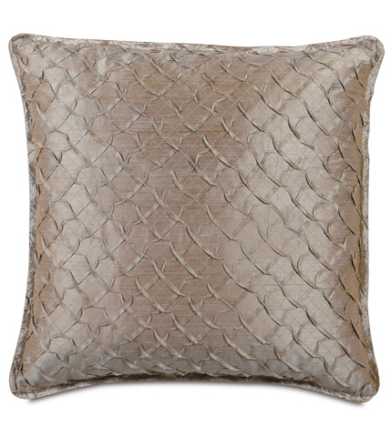 Image of Carmo Pewter Pillow with Mini Flange