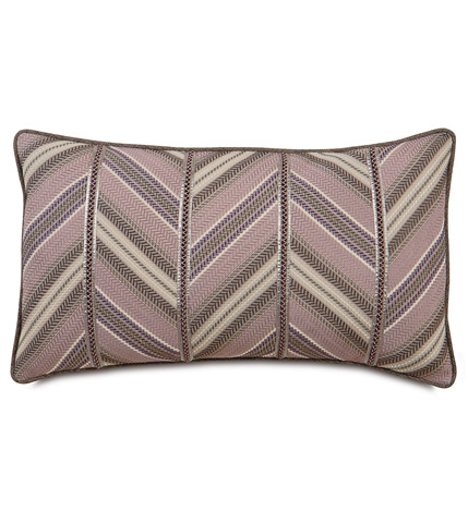 Eastern Accents - Caffrey Mauve Diagonal Insert Pillow - MCA-04