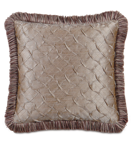 Eastern Accents - Carmo Pewter Pillow with Brush Fringe - MCA-09
