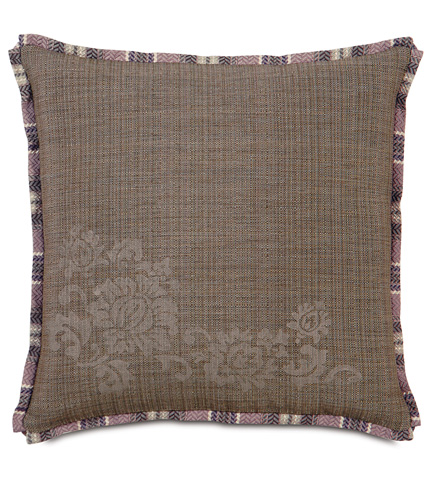 Image of Farrow Dusk Block-Printed Pillow