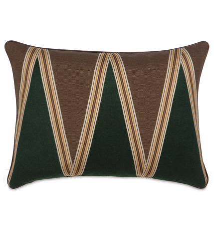 Eastern Accents - Lorne Cocoa Pillow with Border - MCL-04
