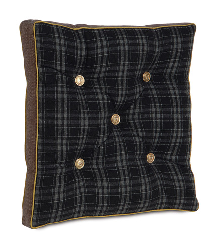Image of Grainger Ink Boxed and Tufted Pillow