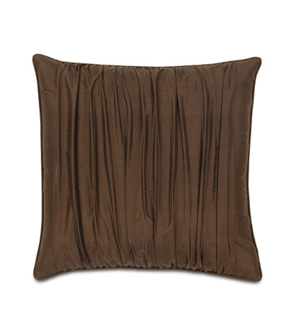 Image of Serico Brown Ruched Extra Sham