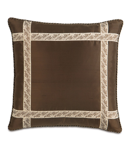 Image of Serico Bown Pillow with Border