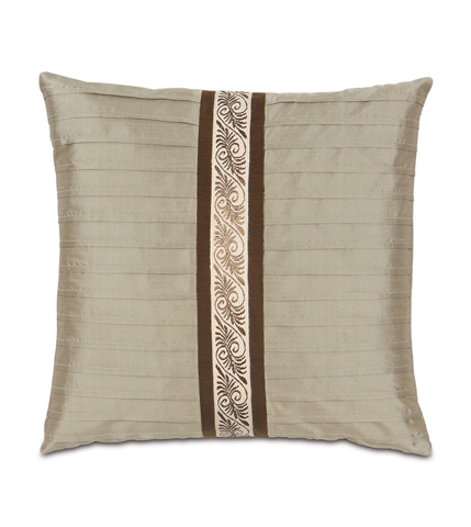Image of Serico Sage Pintucked Pillow