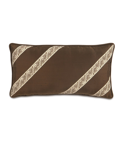 Image of Serico Brown Pillow with Border