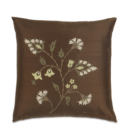 Eastern Accents - Hand-Painted Serico Brown Pillow - MIC-09