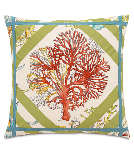 Image of Maldive Pillow with Ribbons