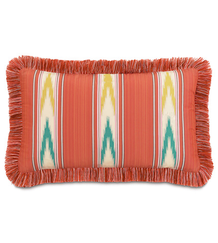Eastern Accents - Nosara Sunset Pillow with Brush Fringe - MLD-09