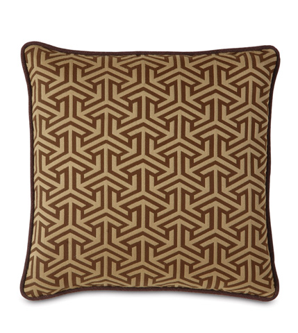 Eastern Accents - Mondrian Earth Pillow with Small Welt - MND-159-07