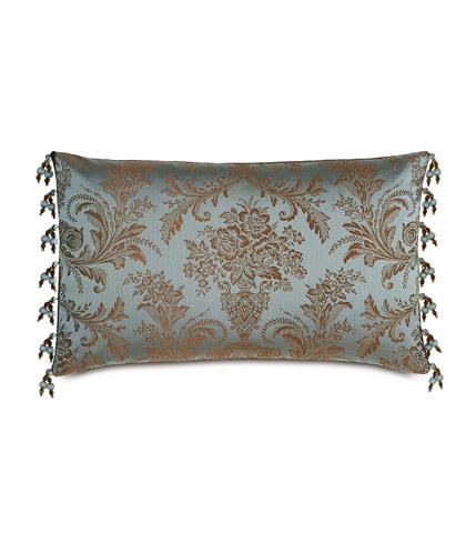 Image of Foscari Pillow with Beaded Trim