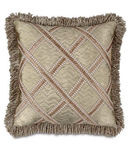 Image of Sorel Alloy Pillow with Gimp and Fringe