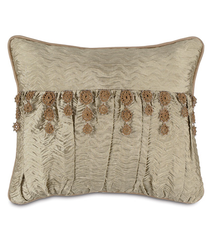 Image of Sorel Alloy Pillow with Lace Trim