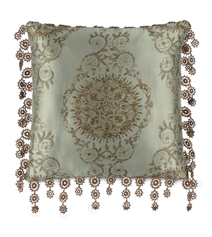 Image of Marbella Pillow with Lace Trim