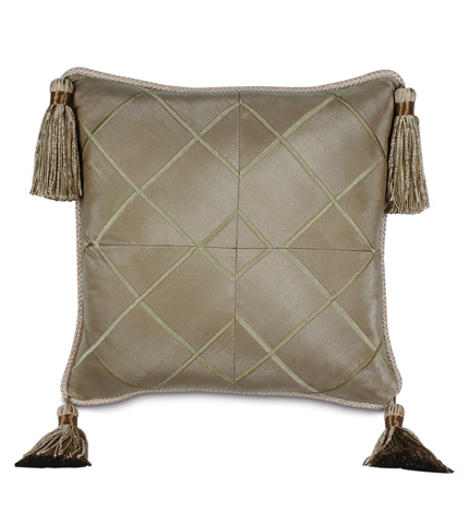 Image of Veneta Mist Pillow with Cord and Tassels