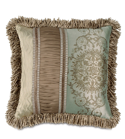 Image of Marbella Pillow with Ruched Insert