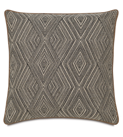 Image of Naya Diamond Pillow with Small Welt