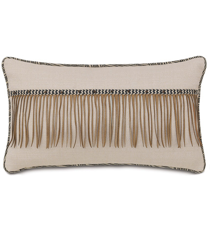 Image of Vivo Bisque Pillow with Fringe
