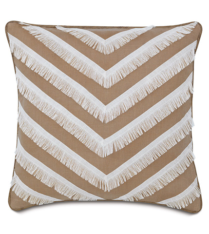 Image of Breeze Sand Pillow with Fringe