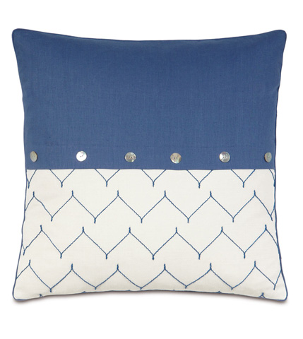Image of Breeze Sapphire Pillow with Buttons