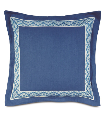 Image of Breeze Sapphire Pillow with Border