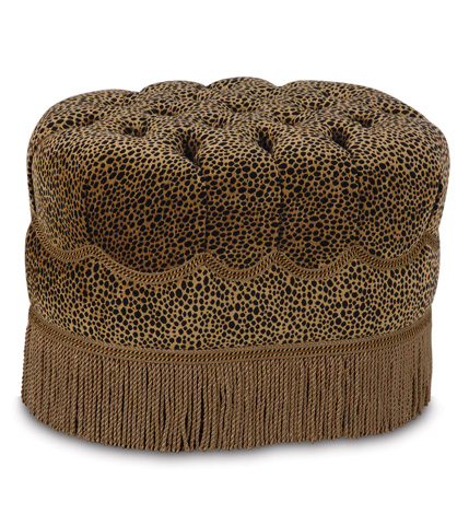 Image of Togo Coin Oval Tufted Ottoman