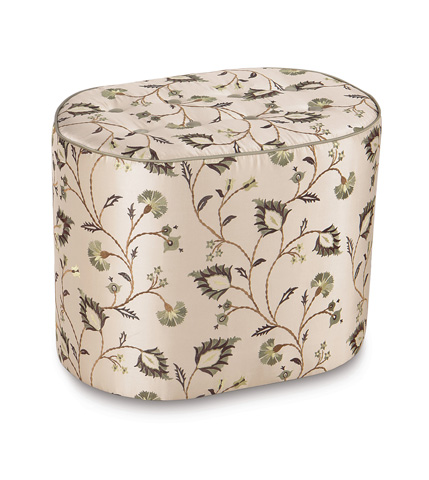 Eastern Accents - Michon Oval Tufted Ottoman - OTD-235