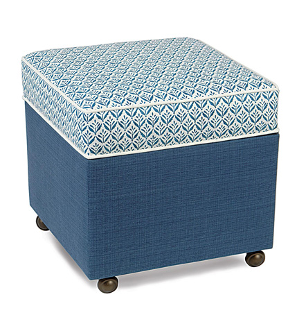 Image of Kari Iris Storage Boxed Ottoman