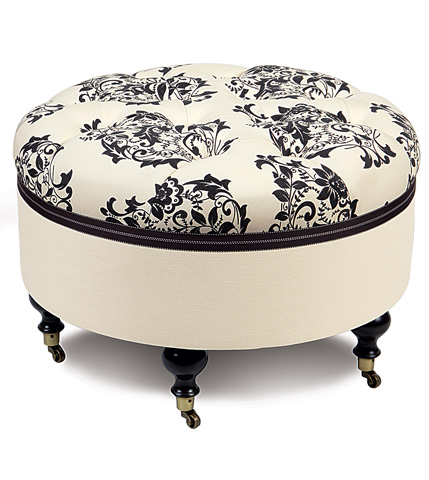 Image of Evelyn Round Ottoman