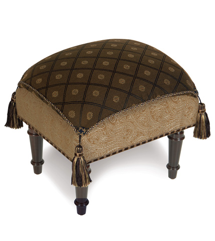 Image of Birkdale Chocolate Pillow Top Stool
