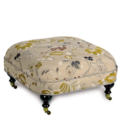 Image of Caldwell Ottoman On Casters