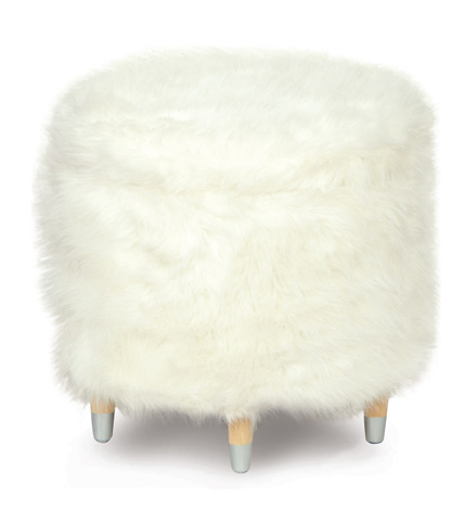 Image of Yolo Ivory Shoe Storage Ottoman