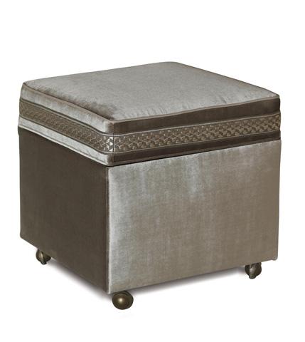 Eastern Accents - Velda Smoke Storage Boxed Ottoman - OTD-376