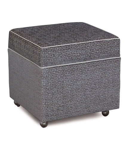Image of Murano Taupe Storage Box Ottoman