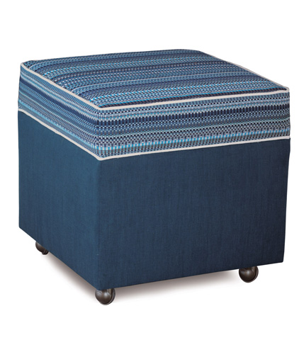 Image of Grover Indigo Storage Boxed Ottoman