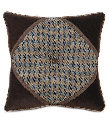 Image of Garrett Stone Diamond Tufted Pillow
