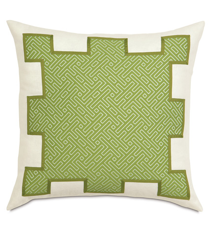 Eastern Accents - Cato Lime Stenciled Pillow - PTI-05