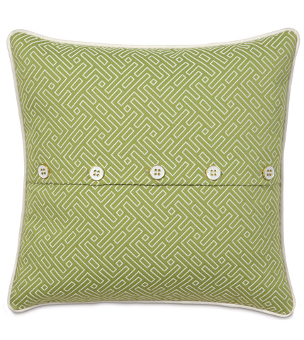 Eastern Accents - Cato Lime Pillow with Buttons - PTI-07