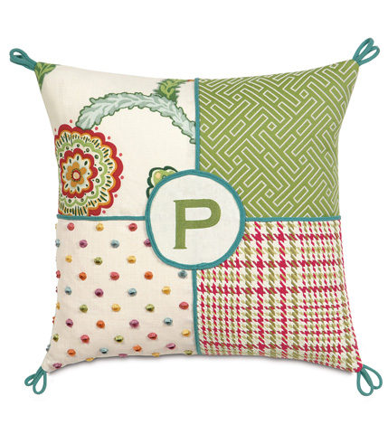 Image of Portia Collage Pillow with Monogram