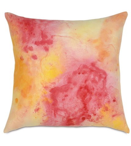 Image of Filly White Hand-Painted Pillow