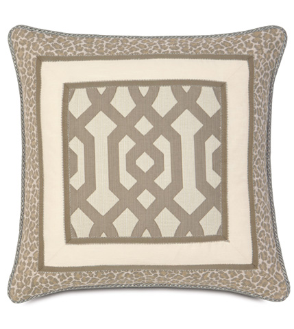 Eastern Accents - Rayland Border Collage Pillow - RAY-03