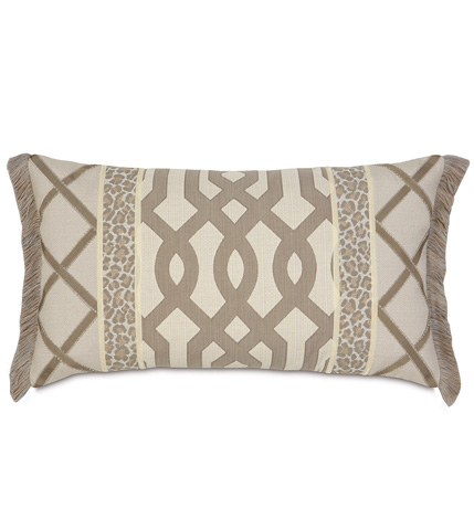 Image of Rayland Insert Pillow with Brush Fringe