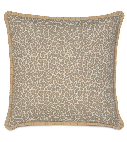 Image of Parrish Fawn Pillow with Pleated Ribbon