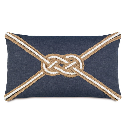 Image of Strauss Denim Pillow With Knot
