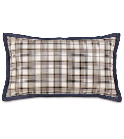 Eastern Accents - Ryder Pillow With Mitered Ribbon - RYD-06