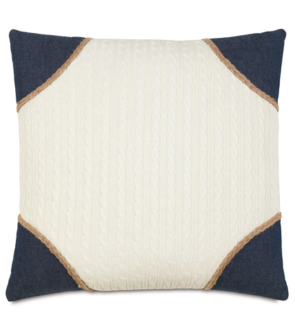 Image of Jude Ivory Pillow With Strauss Corners