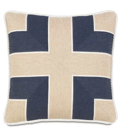 Image of Abbot Indigo Mitered Pillow