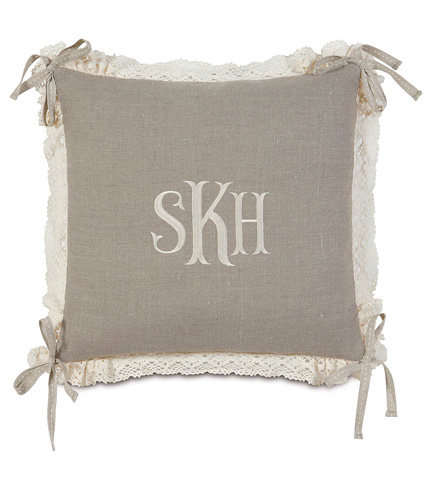Image of Breeze Linen Pillow with Monogram